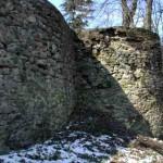 Severovýchodní bašta s navazující hradbou